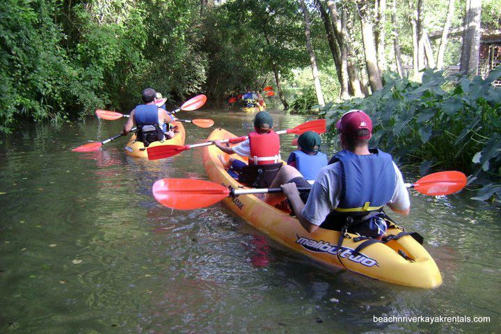 When you have a family, it is important to choose the proper kayak. Doubles are encouraged when youngsters are small and cannot paddle their own kayak. In case you didn't know? The person in the rear does all the work!